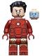 Minifig No: sh739  Name: Iron Man Mark 3 Armor, Black Hair, Dark Red Arms