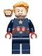 Minifig No: sh741  Name: Captain America - Dark Blue Suit, Red Hands