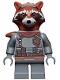 Minifig No: sh742  Name: Rocket Raccoon - Dark Bluish Gray Outfit