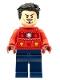 Minifig No: sh760  Name: Tony Stark - Christmas Sweater