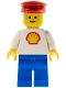Minifig No: shell001  Name: Shell - Classic - Blue Legs, Red Hat