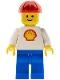 Minifig No: shell012  Name: Shell - Classic - Blue Legs, Red Construction Helmet