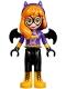 Minifig No: shg001  Name: Batgirl - Black Legs, Bright Light Orange Boots