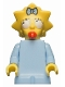 Minifig No: sim011  Name: Maggie Simpson with Worried Look - Minifigure only Entry
