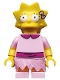 Minifig No: sim030  Name: Lisa Simpson with Bright Pink Dress - Minifigure only Entry