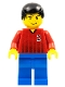 Minifig No: soc061  Name: Soccer Player - Red and Blue Team with Number 2