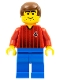 Minifig No: soc062  Name: Soccer Player - Red and Blue Team with Number 4