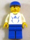 Minifig No: soc134s  Name: Soccer Player White - Adidas Logo, White and Blue Torso Stickers (#4)