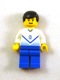 Minifig No: soc141  Name: Soccer Player White & Blue Team with shirt  #8