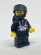 Minifig No: sp001new  Name: Blacktron 1 Reissue with Yellow Hands
