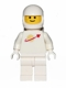 Minifig No: sp006new2  Name: Classic Space - White with Airtanks and Motorcycle (Standard) Helmet, Logo High on Torso (Second Reissue)