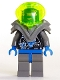 Minifig No: sp026  Name: Insectoids - Female, blue diamond under circuits, Dark Gray Armor