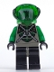 Minifig No: sp031  Name: Insectoids Zotaxian Alien - Male, Gray and Green with Green Circuits and Silver Hoses (Danny Longlegs / Corporal Steel)