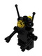 Minifig No: sp075  Name: Classic Space Droid - Hinge Base, Black with Trans-Yellow Eyes