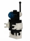 Minifig No: sp079  Name: Futuron Droid, Black with White Base, Arms, and Antenna Base