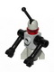 Minifig No: sp080  Name: Classic Space Droid - Rocket Base, Light Gray and Black with Trans-Red Eye