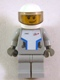 Minifig No: sp086s  Name: Star Justice Astronaut 1 - with Torso Sticker (Silver Badge), Smirk and Stubble Beard