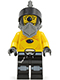 Minifig No: sp097  Name: Space Police 3 Alien - Snake with Visor