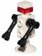 Minifig No: sp125  Name: Futuron Droid, White with Black Arms, Trans Red Eye