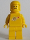 Minifig No: sp131s  Name: Classic Space - Yellow with Airtanks, Stickered Torso Pattern