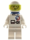 Minifig No: splc007  Name: Launch Command - Astronaut, Helmet, Trans-Neon Green Visor, Blue Airtanks