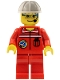 Minifig No: spp009  Name: Space Port - Ground Control, White Construction Helmet