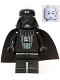 Minifig No: sw0004a  Name: Darth Vader (Light Bluish Gray Head)
