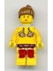 Minifig No: sw0070  Name: Princess Leia (Jabba Slave with Neck Bracket with Back Stud)