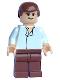 Minifig No: sw0084  Name: Han Solo - Light Nougat, White Shirt, Reddish Brown Legs