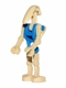 Minifig No: sw0095  Name: Battle Droid Pilot with Blue Torso and Straight Arm