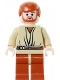 Minifig No: sw0152  Name: Obi-Wan Kenobi, Dark Orange Legs, Light Flesh Head with Headset