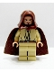 Minifig No: sw0172a  Name: Qui-Gon Jinn - Light Nougat Head with Black Chin Dimple, Brown Hood and Cape