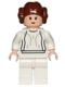 Minifig No: sw0175  Name: Princess Leia (White Dress, Light Flesh, Small Eyes)