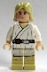 Minifig No: sw0176  Name: Luke Skywalker - Light Nougat, Long Hair, White Tunic, Tan Legs