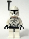 Minifig No: sw0200  Name: Clone Trooper Clone Wars with Dark Bluish Gray Helmet Antenna / Rangefinder
