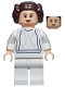 Minifig No: sw0337  Name: Princess Leia (White Dress, Big Eyelashes)