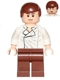 Minifig No: sw0403  Name: Han Solo, Reddish Brown Legs without Holster Pattern, Dual Sided Head