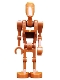 Minifig No: sw0482  Name: Battle Droid Commander (Dark Orange)