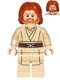 Minifig No: sw0489  Name: Obi-Wan Kenobi - Mid-Length Tousled with Center Part Hair