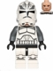 Minifig No: sw0537  Name: Wolfpack Clone Trooper (Dark Bluish Gray Arms)