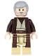 Minifig No: sw0552  Name: Obi-Wan Kenobi (Dark Brown Hooded Coat)