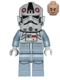Minifig No: sw0581  Name: AT-AT Driver - Dark Red Imperial Logo, Grimacing