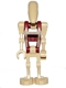 Minifig No: sw0600  Name: Battle Droid Security with Straight Arm - Solid Pattern on Torso