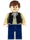 Minifig No: sw0601  Name: Han Solo, Black Vest, Dark Blue Legs