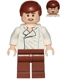 Minifig No: sw0612  Name: Han Solo, Reddish Brown Legs without Holster Pattern, Dual Sided Head, Cheek Lines