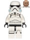 Minifig No: sw0617  Name: Stormtrooper (Printed Legs, Dark Azure Helmet Vents, Frown)