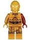 Minifig No: sw0653  Name: C-3PO - Dark Red Arm
