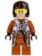 Minifig No: sw0658  Name: Poe Dameron (Pilot Jumpsuit, Helmet)