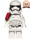 Minifig No: sw0664  Name: First Order Stormtrooper Officer (Rounded Mouth Pattern)