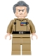 Minifig No: sw0741  Name: Grand Moff Wilhuff Tarkin - Dark Tan Uniform
